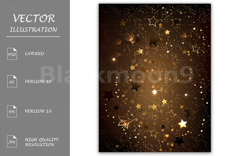 Brown Background with Stars example image 1