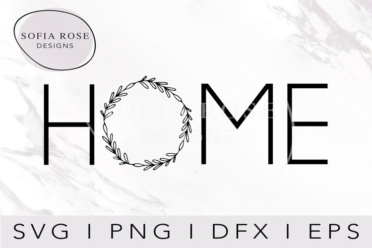 Home SVG- Home and Wreath SVG-Wreath SVG-Cut Files example image 1