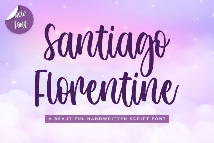 Beautiful Script Font - Santiago Florentine example image 1