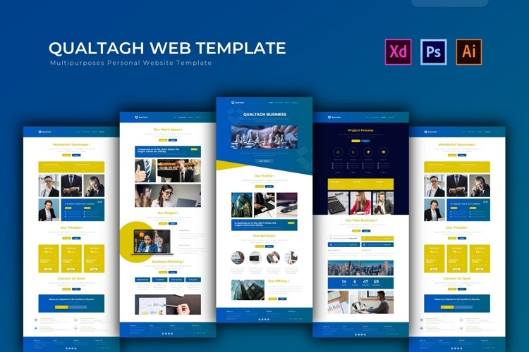 Qualtagh Businees | Web Template example image 1