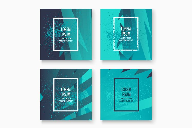 Creative cover frame design paint explosion platter vector i example image 1