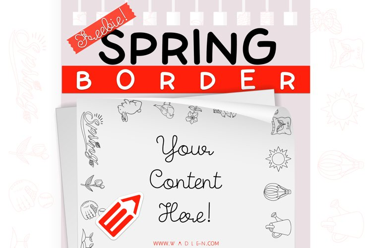 Spring - Border Template example image 1