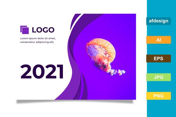 2021 Calendar Color Theme Purple example image 1