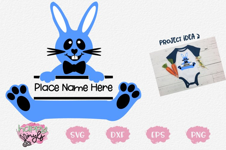 Personalize Bunny BOY- An Easter SVG Design
