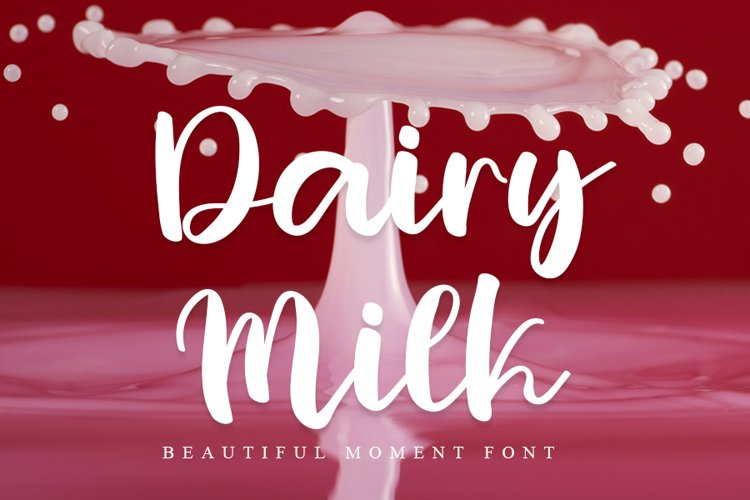 Dairy Milk | Beautiful And Fresh Font example image 1