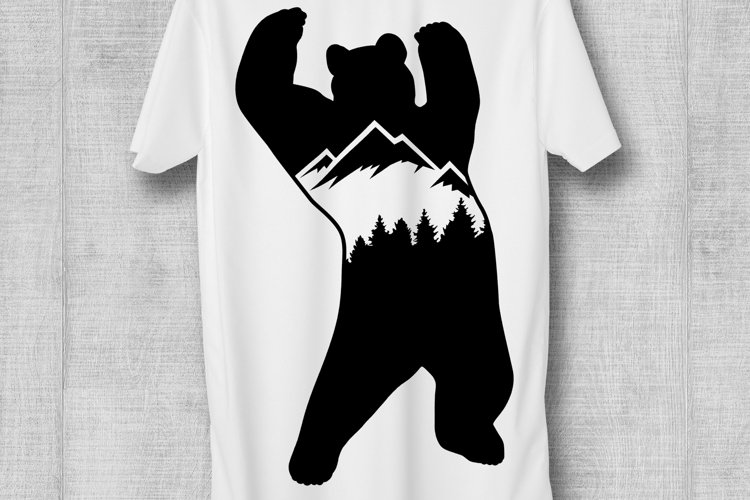 Mountain Bear SVG Adventure SVG Mountains SVG DXF PNG example image 1