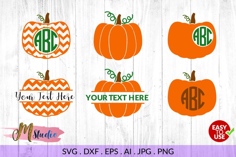 Pumpkin Monogram svg, for Silhouette Cameo or Cricut example