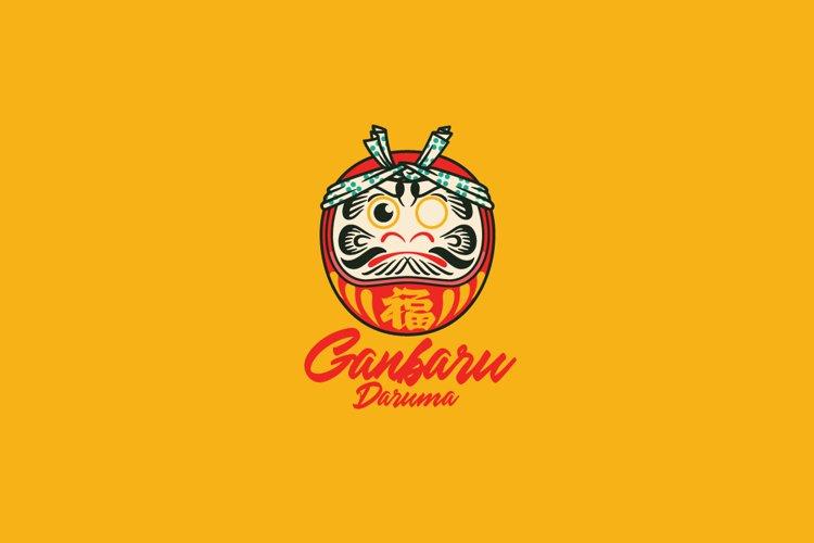 Ganbaru Daruma Logo Template