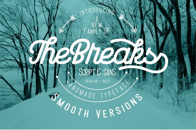 Web Font The Breaks smooth version example image 1
