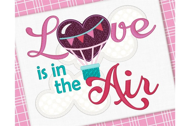 Love is in the Air Applique 1262 example image 1