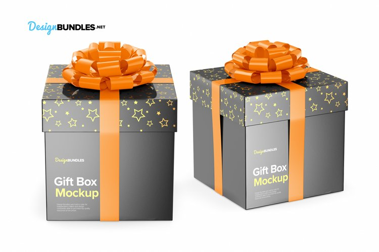 Gift Box Mockups example 7