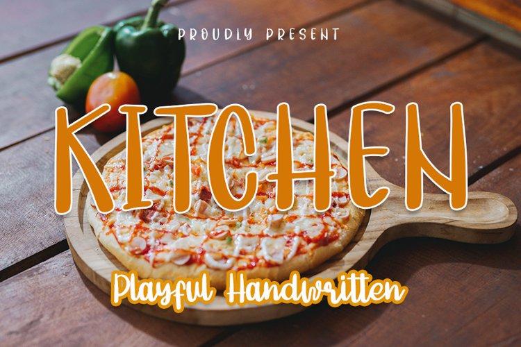 Kitchen - Playful Handwritten Font example image 1