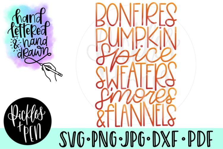 Favorite Fall Things List - Fall SVG