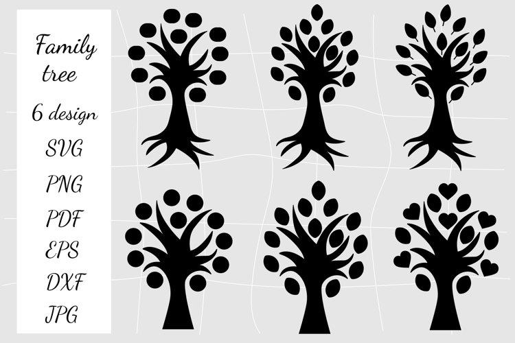 Family Tree SVG. Tree Cut File. Tree SVG.Tree Silhouettes example image 1