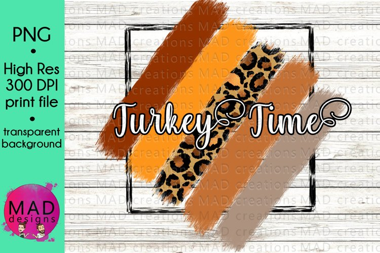 Thanksgiving - Paint Stripes - Turkey Time example image 1
