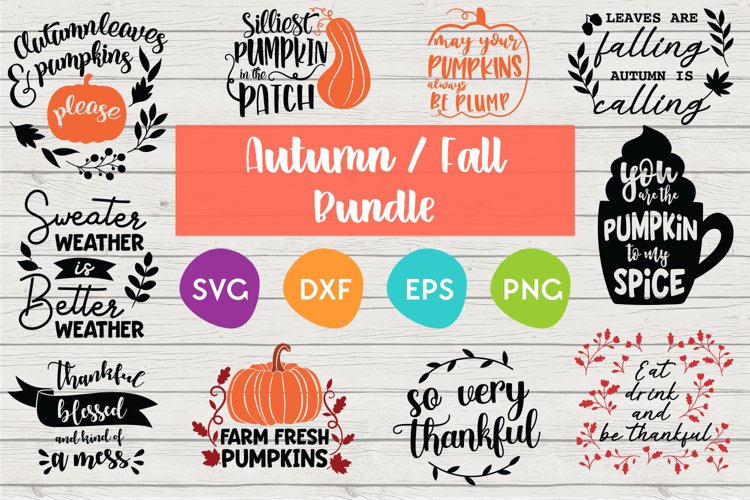 Fall and Autumn SVG Bundle | SVG Quote designs example image 1