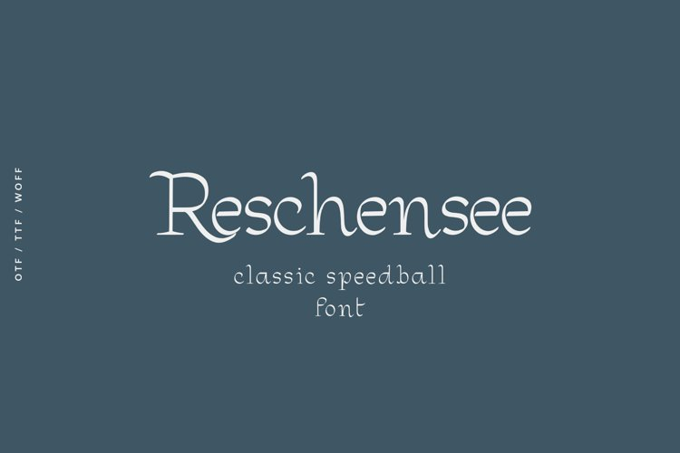 Reschensee font example image 1