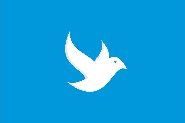 Simple flying bird logo example image 1