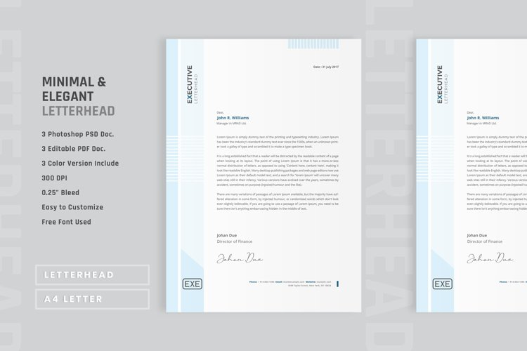 Minimal and elegant letterhead template