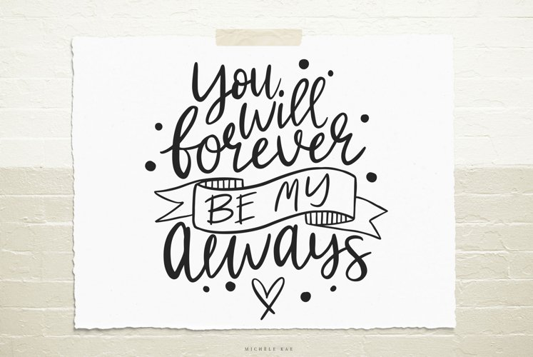 Love quote SVG Cutting file example image 1