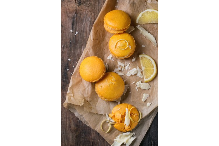 Citrus macaroons with white chocolate example image 1