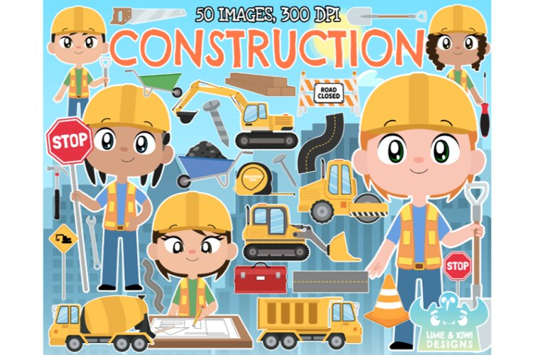 Construction Clipart - Lime and Kiwi Designs