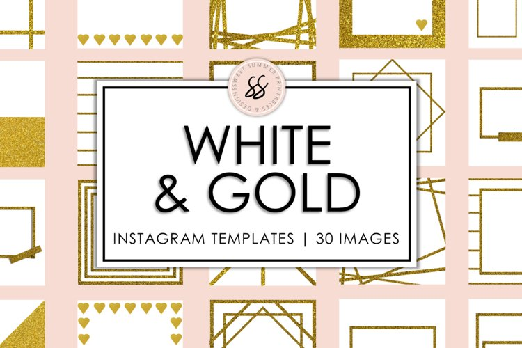 White and Gold Instagram Templates example image 1