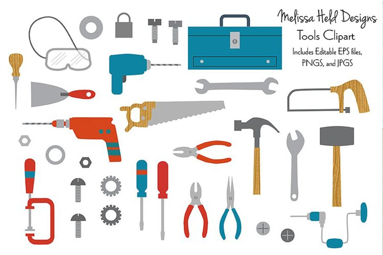 Tool and Hardware Clipart example image 1