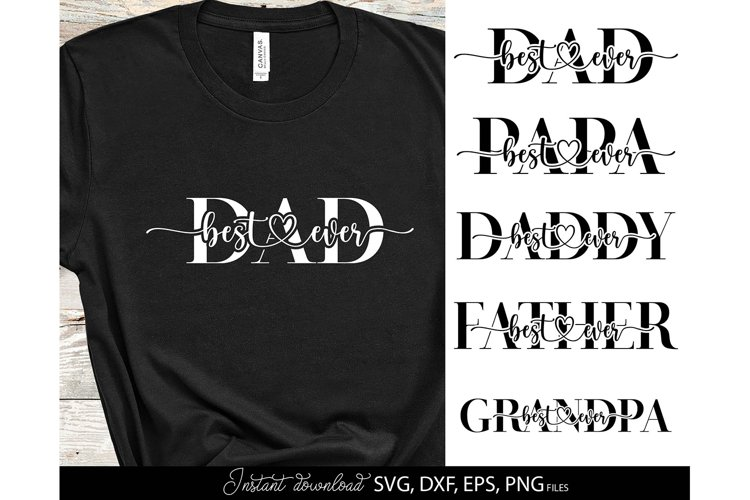 Father Day SVG Bundle Daddy SVG Fathers Day Shirt SVG PNG