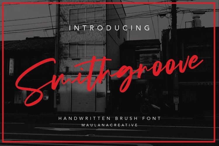 Smithgroove Handwritten Brush Font example image 1