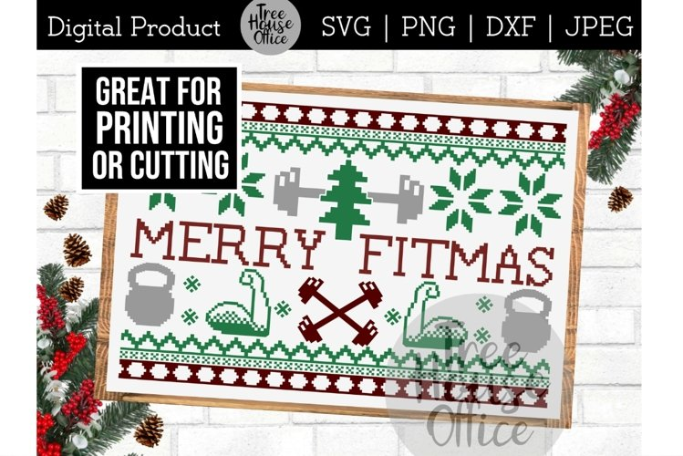 Funny Gym SVG, Christmas Workout, Fitness Merry Fitmas PNG