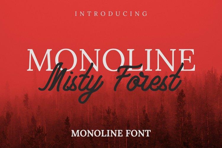 Web Font Monoline Misty Forest Font example image 1