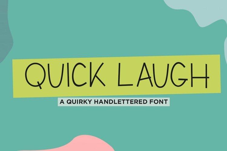 Web Font Quick laugh, a quirky handwritten font