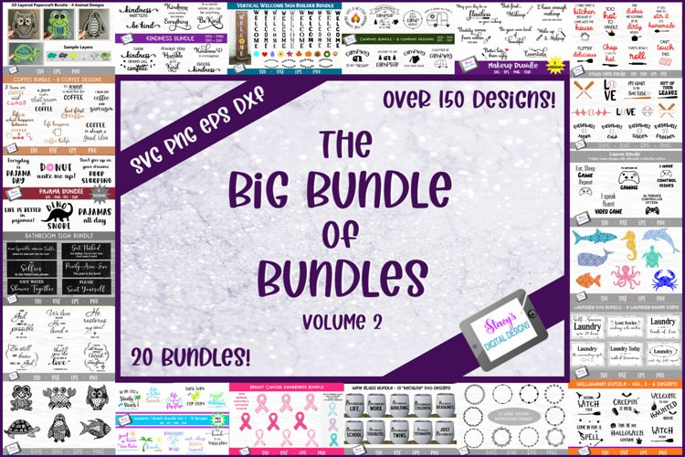 The Big Bundle of Bundles Vol. 2 - 150 SVGs from 20 bundles