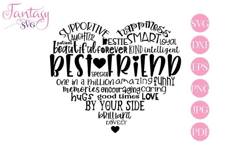 Best Friend Word Art - Svg Cut Files