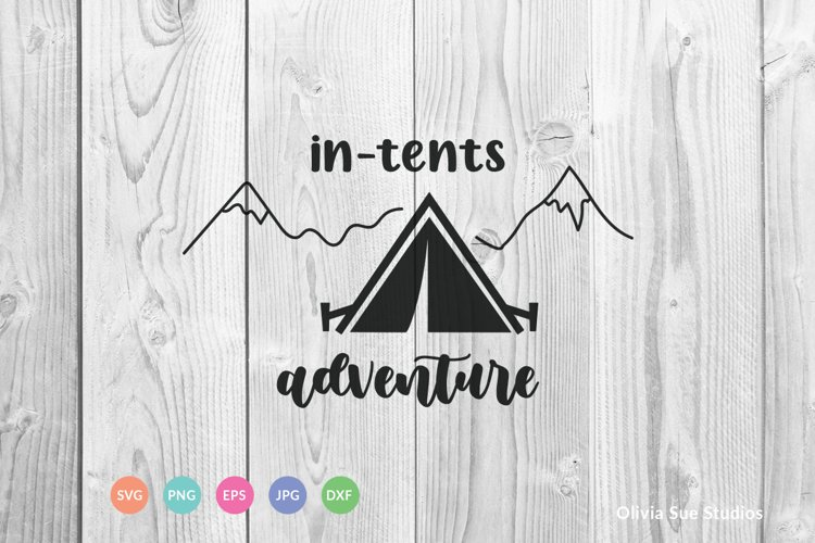 In Tents Adventure SVG Cut File example image 1