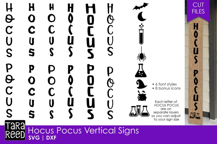 Hocus Pocus Vertical Signs - Halloween SVG and Cut Files