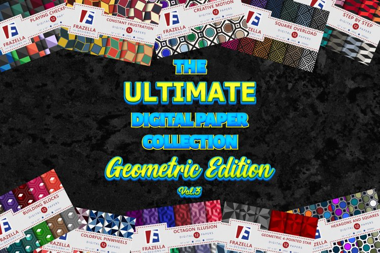 The ULTIMATE Digital Paper Collection Geometric Set Vol. 3