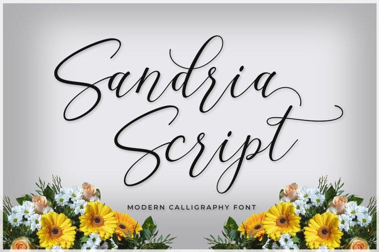 Sandria Script example image 1