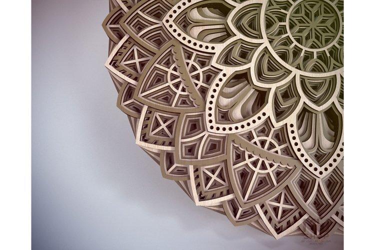 M19 - Circular Mandala Pattern, Layered Mandala DXF SVG example 2