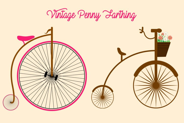 Vintage Penny Farthing PNG Elements