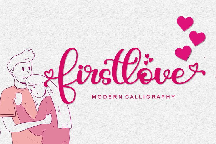 Firstlove - Modern Calligraphy Font example image 1