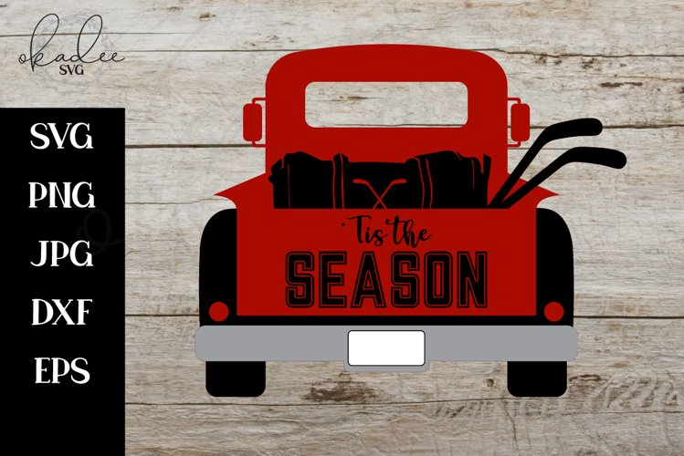 Hockey SVG, Christmas SVG, Antique Truck SVG, Hockey Clipart example image 1