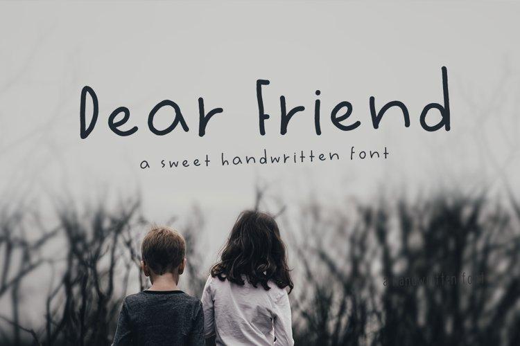 Dear Friend Hand Drawn Font