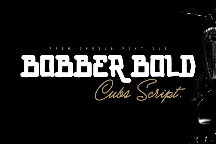 BOBBER BOLD & Cubs Script FONT DUO example image 1
