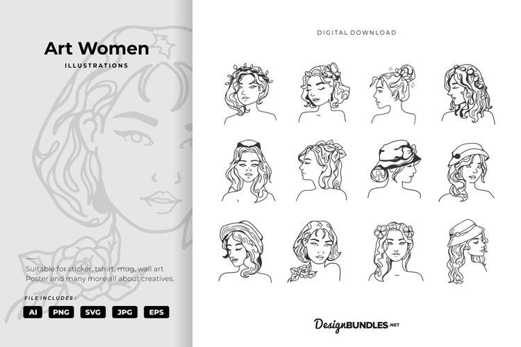 Art Women Illustrations example image 1