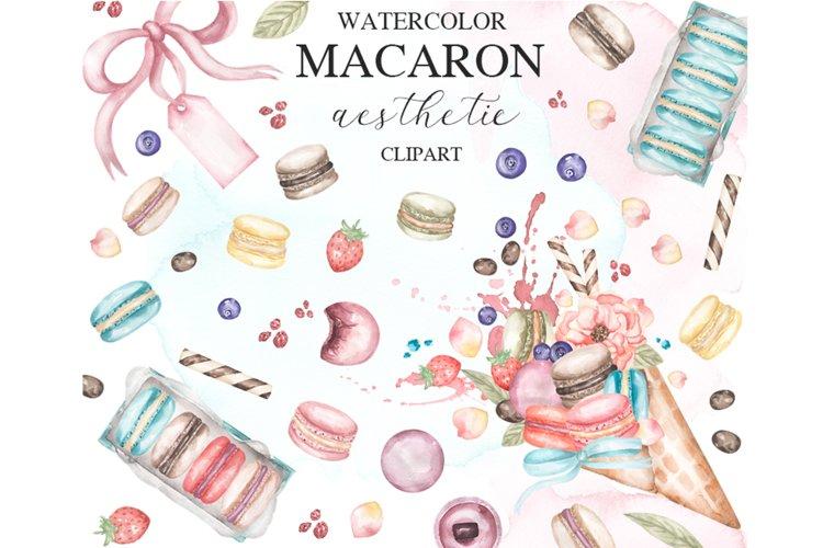 Watercolor Macaron Clipart example image 1