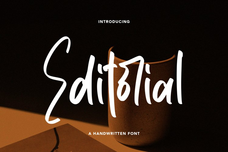 Editorial - A Handwritten Font example image 1