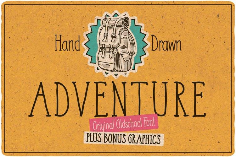 Adventure Typeface plus bonus graphics example image 1