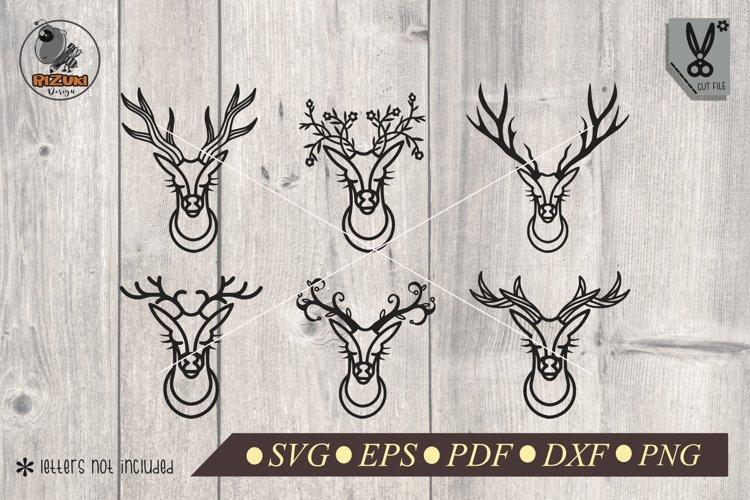 Deer Svg Deer Head Svg Deer Clip Art Deer Horn Deer Dxf 411211 Illustrations Design Bundles